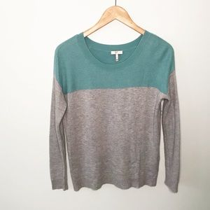 JOIE Gray Green Sweater Wool Cashmere Blend